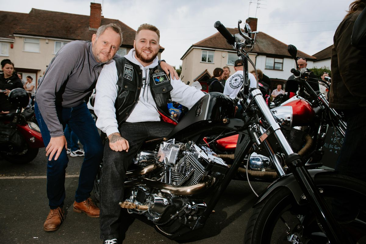 Ada Passey and Kiah Passey from Brierley Hill with his Jesse James Inspired 1650cc Ultima Hard Tail which is up for auction