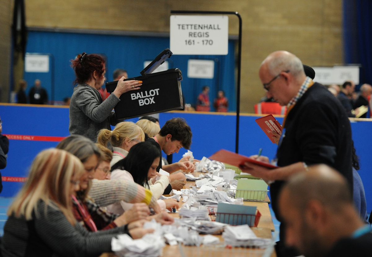 Votes are counted at Aldersley Leisure Village