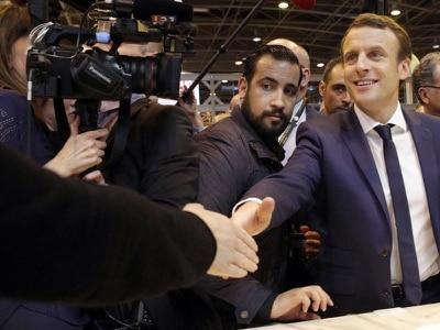 Bodyguard to France's Emmanuel Macron suspended over student beating