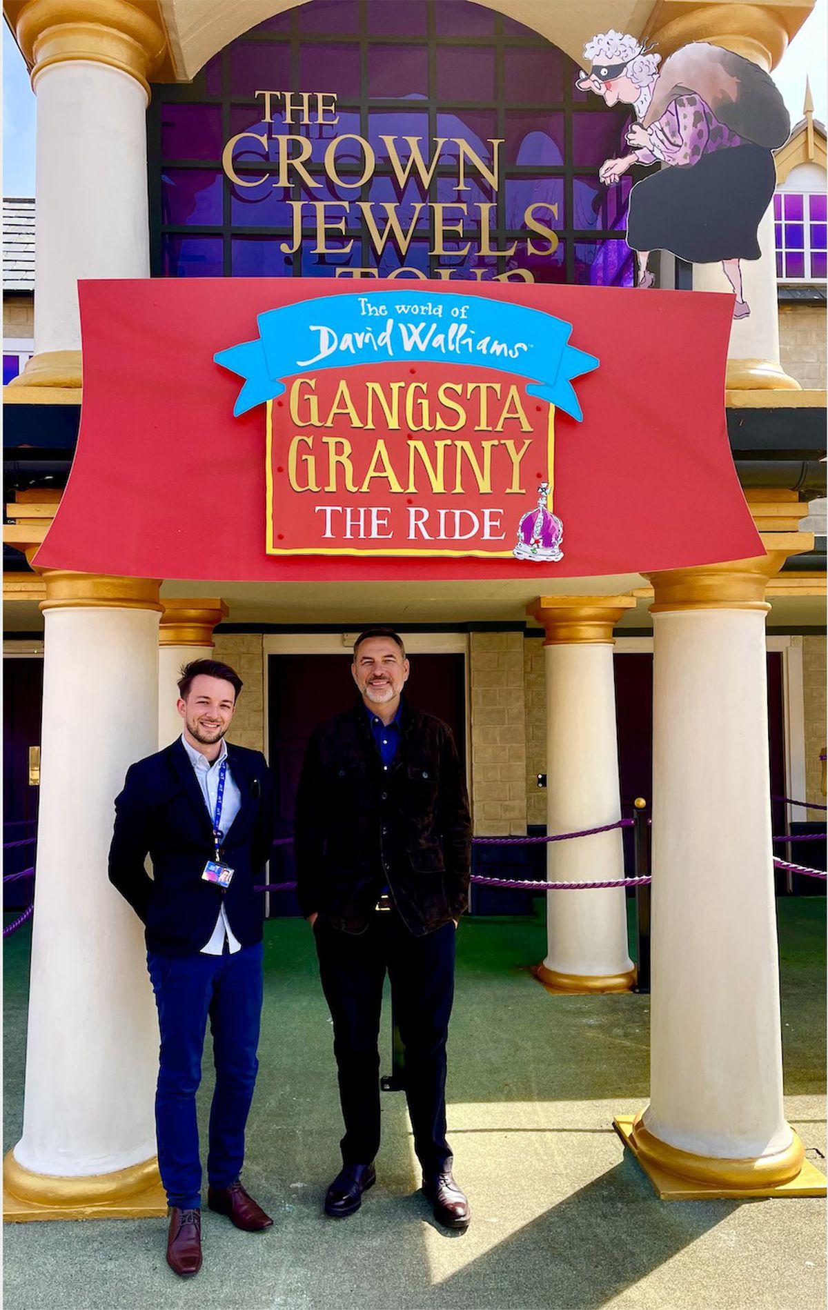 John Burton with comedian and author David Walliams