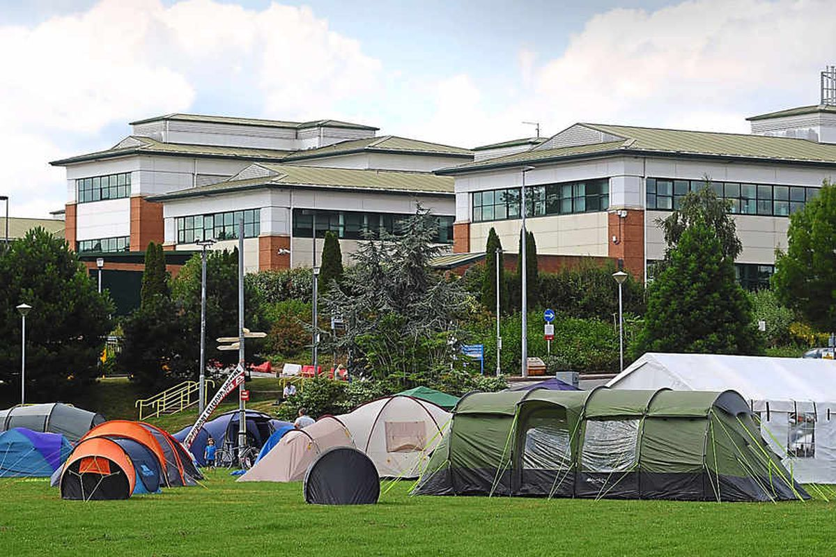 Stafford Hospital camping campaigners: We'll stay until our services are saved