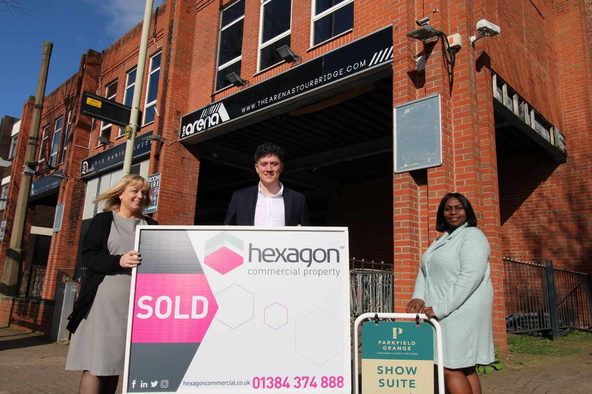 Karen Hemmings from Cinnamon Care, Harvey Pearson from Hexagon Commercial Property and Jenny Billingsley from Cinnamon Care