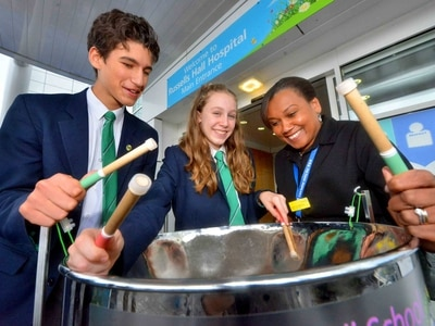 School steel band help kick off Black History Month