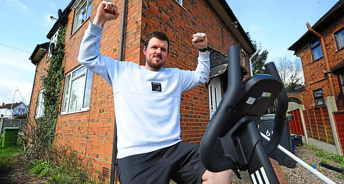 Taking on the challenge of cycling 26 miles each day during April, Tim Kershaw, of Brierley Hill