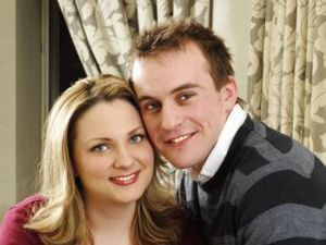Lousie Woodward six years ago with her husband Antony Elkes