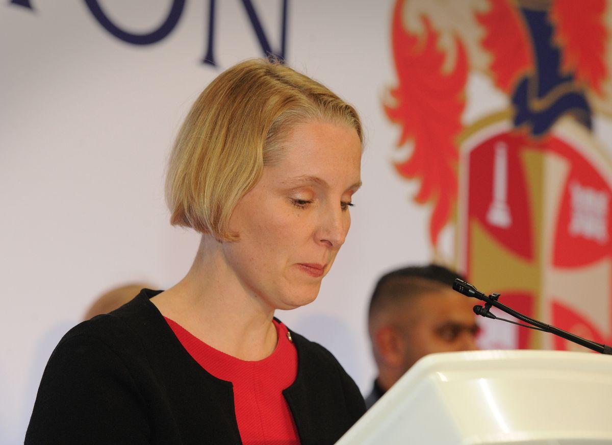 Emma Reynolds speaks after losing her Wolverhampton North East seat