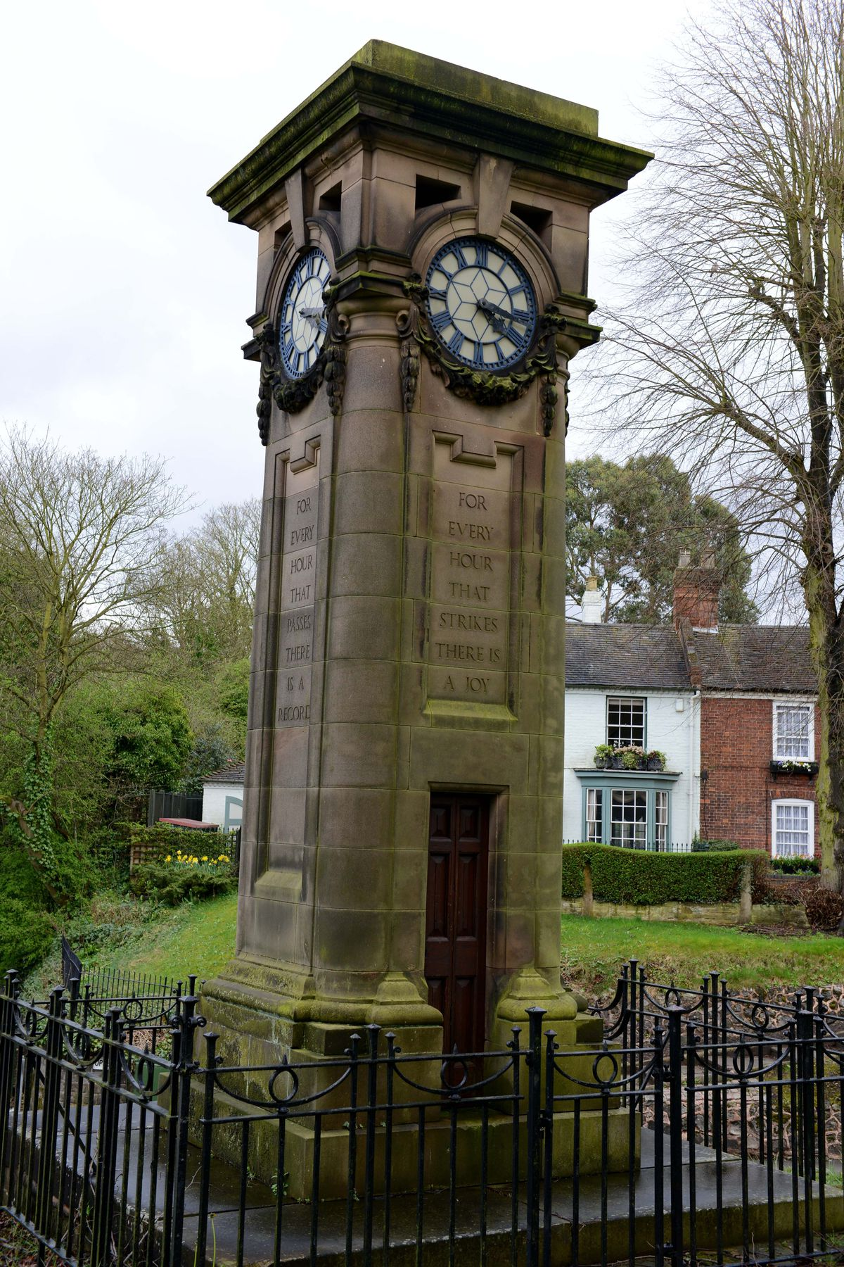 The clock tower remains a much-loved local landmark