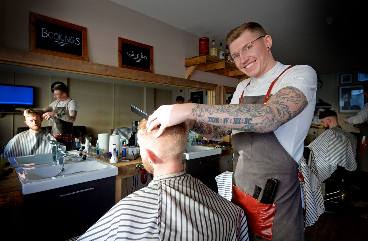 Barber Chris Standing says Tipton is a great place to work