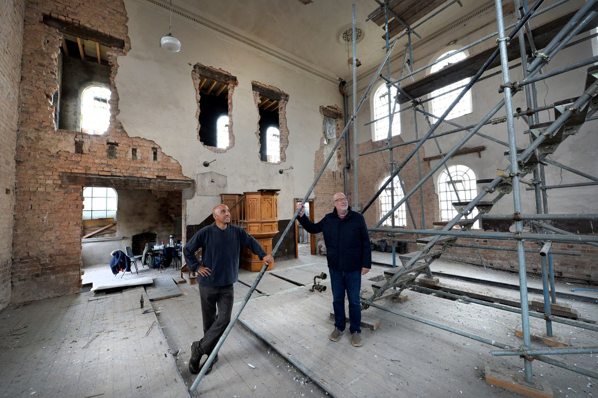 The church has been completely stripped and extensive work will take place to restore the building as it becomes the new home of the Church of Bethesda Shalom