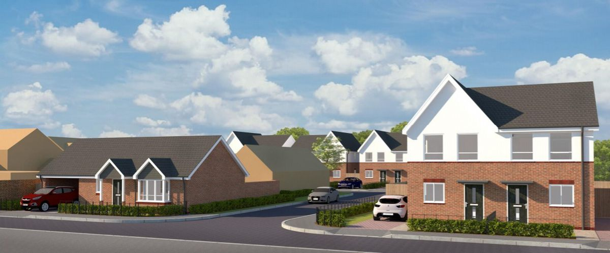 An artist's impression of proposed houses for Foredraft Street. Photo: S P Faizey Chartered Architects.