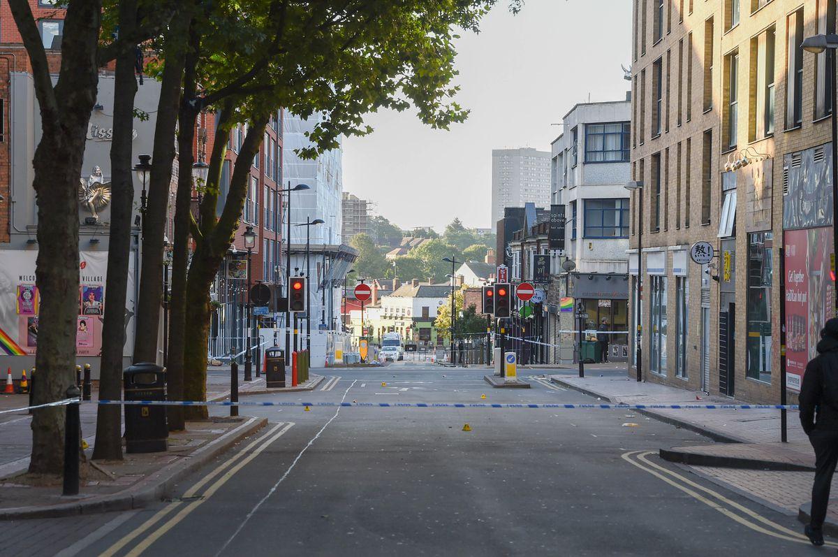 The police cordon on Hurst Street. Photo: SnapperSK
