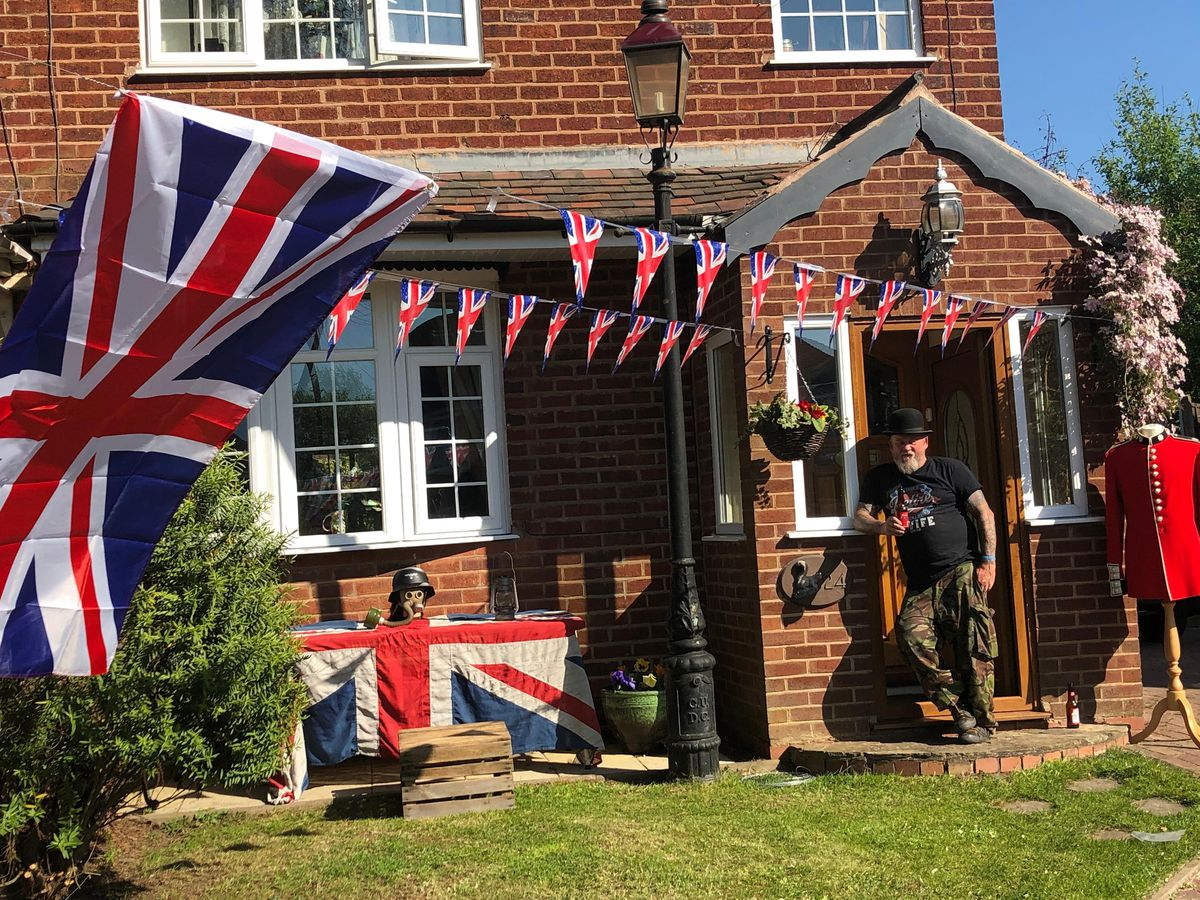 Dale Byrne decorated his house in Smethwick ready for VE Day
