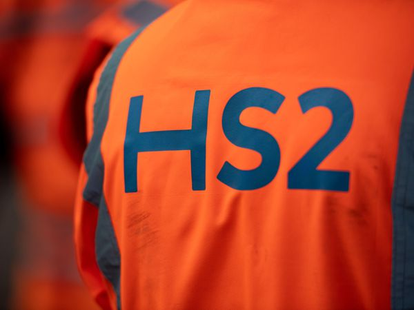 A HS2 worker