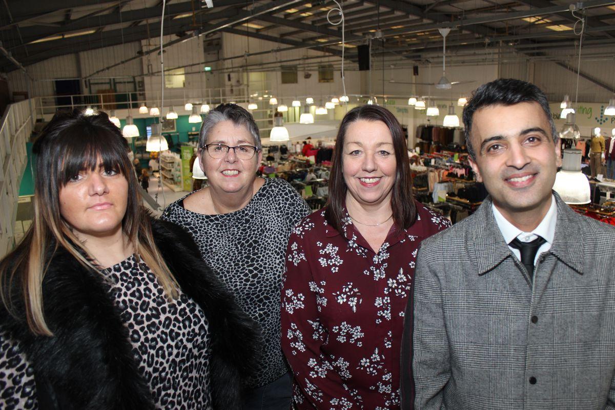 The retail team, from left, Jenna Clifton, Cath Cottis, Denise Benson and Harjinder Samra