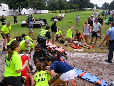 Golf spectators injured in lightning strike released from hospital