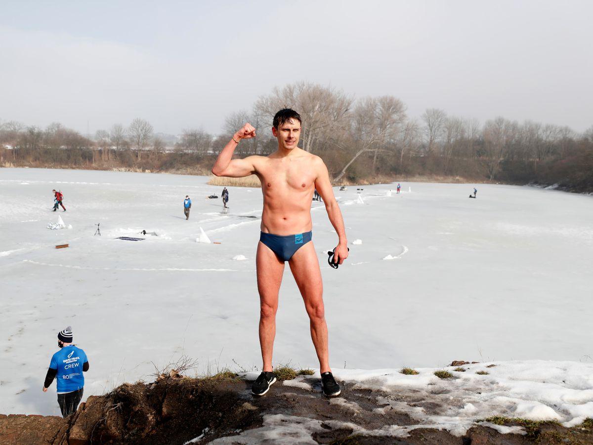 Czech Republic Under Ice Swimming Record
