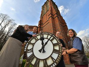Roger Whitehouse, Paul Millward, James Brookes and Karen Chaplin mark the milestone in the fundraising bid