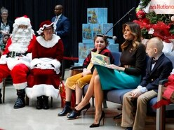 Melania Trump reads Christmas story to children in hospital