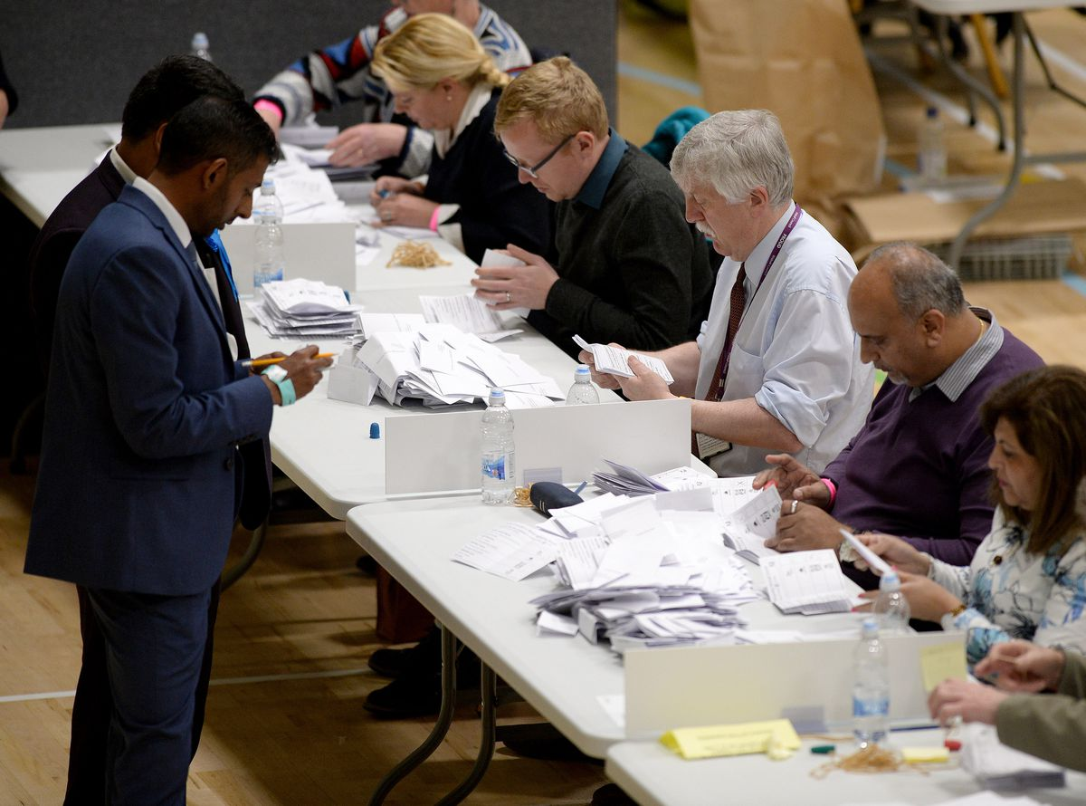 Votes from across Walsall were counted in the early hours