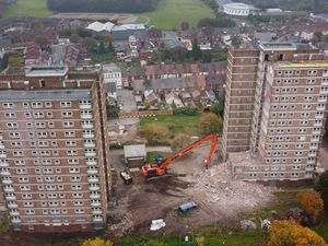 Demolition work has begun at Arley and Compton Court in Netherton