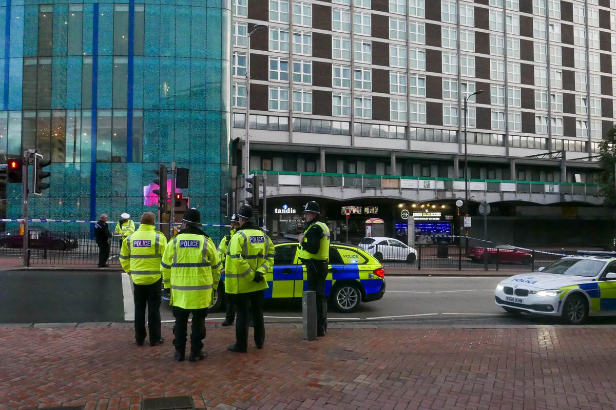 A man and a woman were injured in the crash in Birmingham - picture by Snapper SK