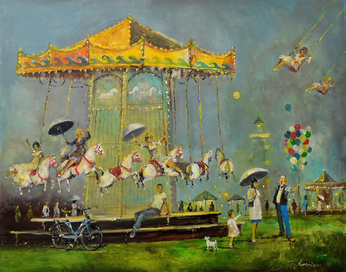 All the fun of the fair in this painting