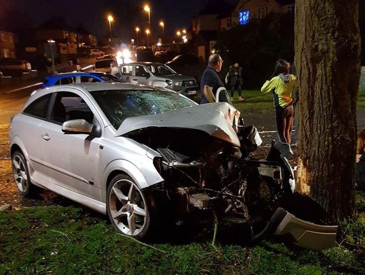 The scene of the crash. Photo: Sian Elizabeth