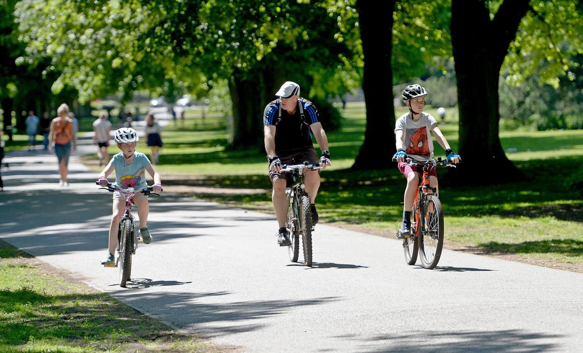 Cyclists out at Himley Park