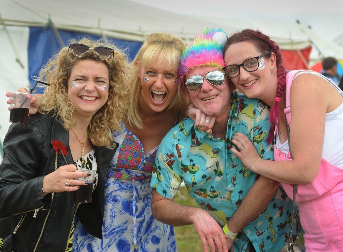 Enjoying Staffs Fest, at Lower Drayton Farm, Penkridge