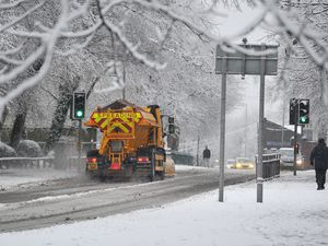 Gritters out in Bilston after heavy snow in the area