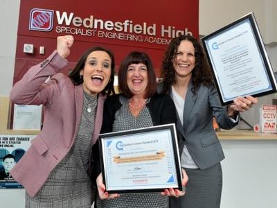 Wednesfield School strikes gold with award
