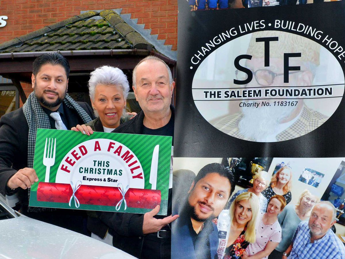 Shaz Saleem of The Saleem Foundation with trustee Karen Wilcox and chairman Steve Waltho