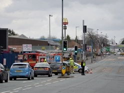 West Bromwich road reopens after roof blown off building