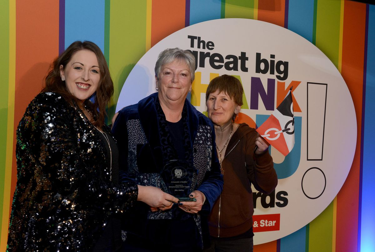 Ambassador of the Year winner Mary Harding with Vicky Price and Doreen Tipton.