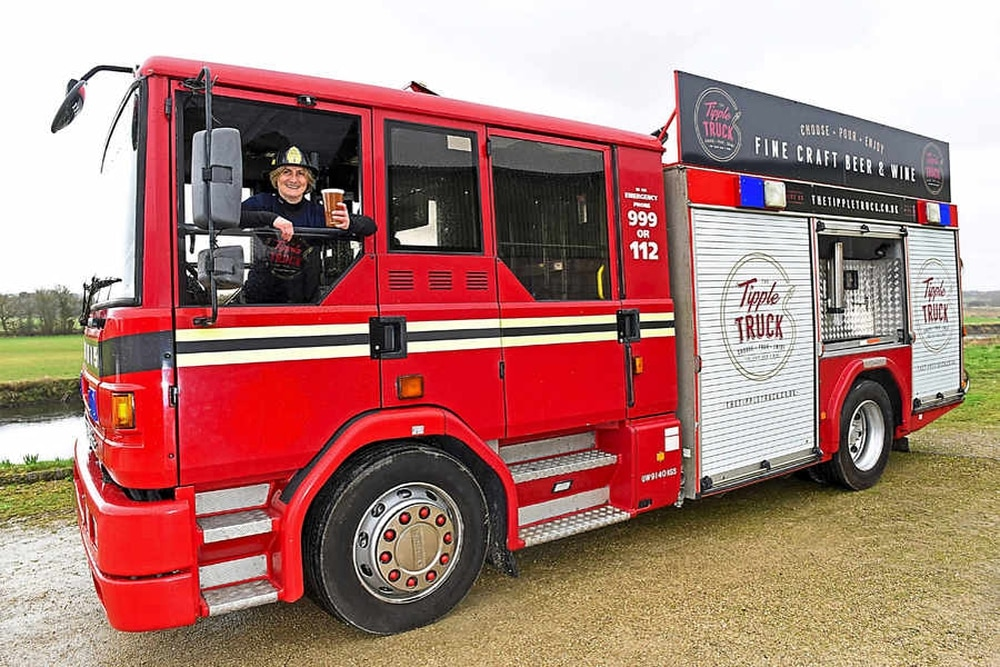 Flaming Eck Pints Served Up From Old Fire Engine Turned