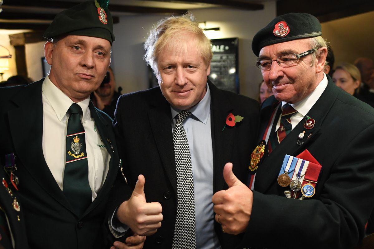 Boris Johnson at the Lych Gate Tavern