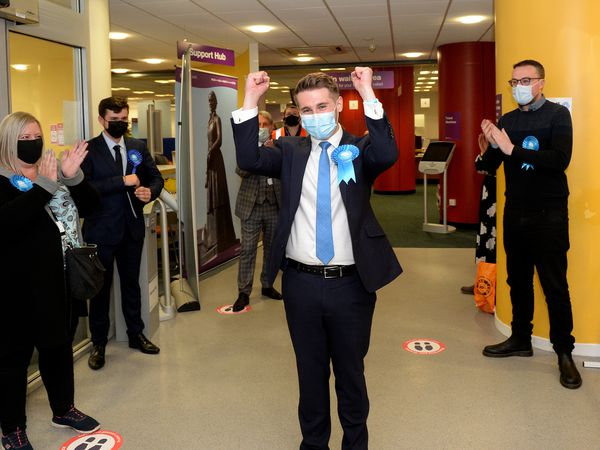 Conservatives have been celebrating across the region, including in Walsall, pictured