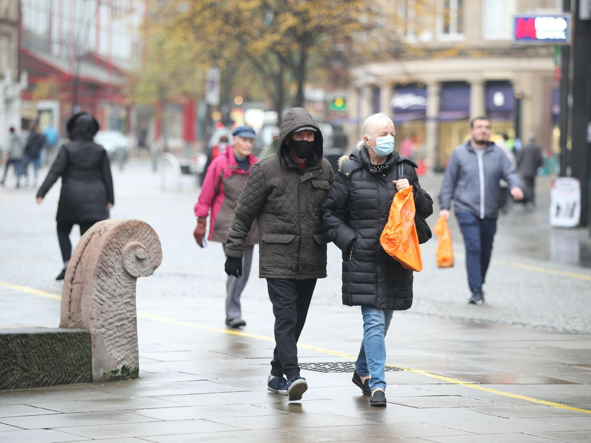 Shoppers in Sheffield city centre