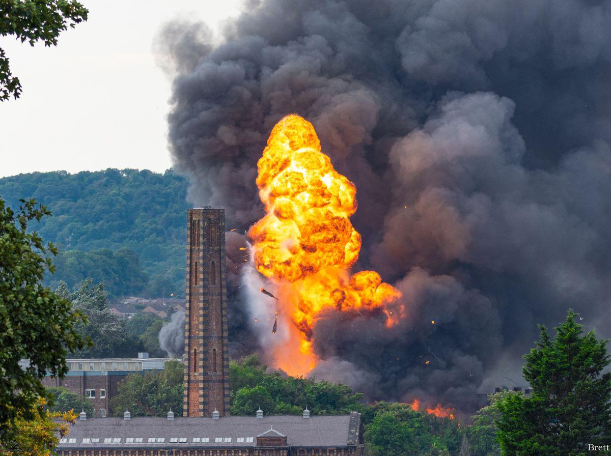 The scene of the major fire in Kidderminster last week. Photo: Brett Pearson