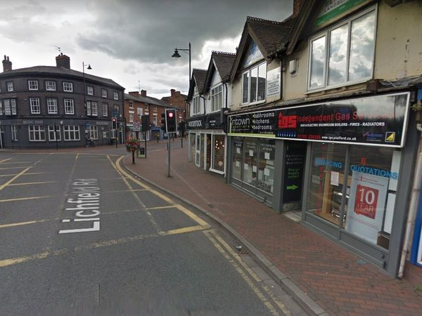 A Google Street View image of Lichfield Road Stafford with the shop unit set to become a micropub on the right