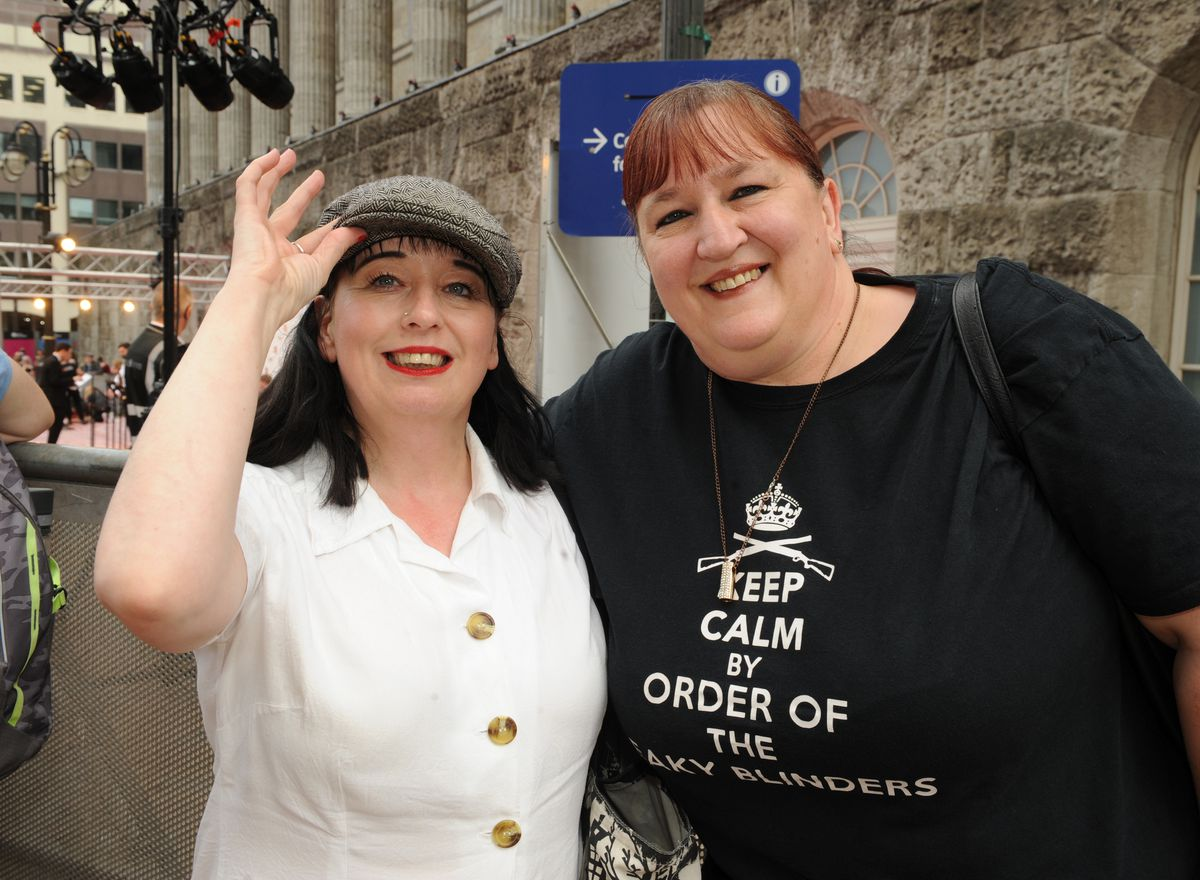 Peaky Blinders premiere, Birmingham Town Hall, fans (left-right) Lisa Dunhan and Shirley Harris, both of Walsall