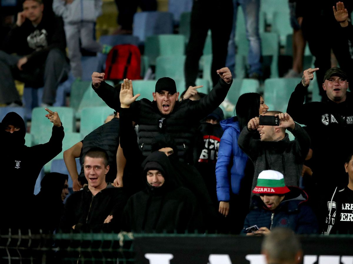 Bulgaria fans made monkey noises and performed Nazi salutes