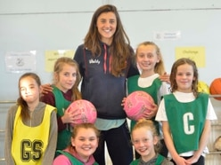 Pupils net a few tips from England ace Beth Cobden - with pictures