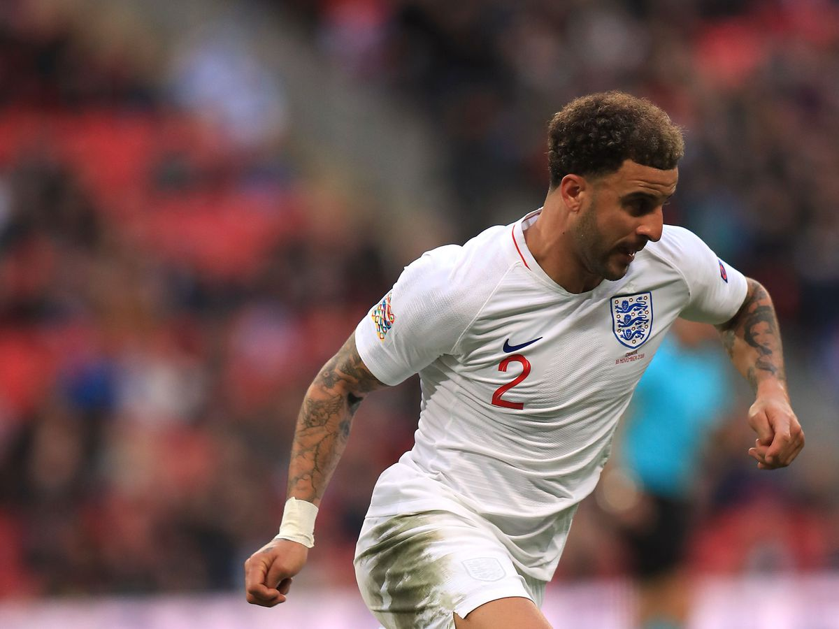 Kyle Walker in action for England