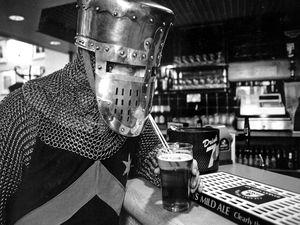 Actor Tony Sharratt at the bar
