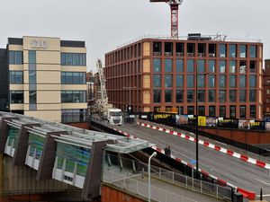 The i9 building, right, in Wolverhampton city centre