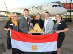 Thomas Cook takes off for Egypt from Birmingham Airport