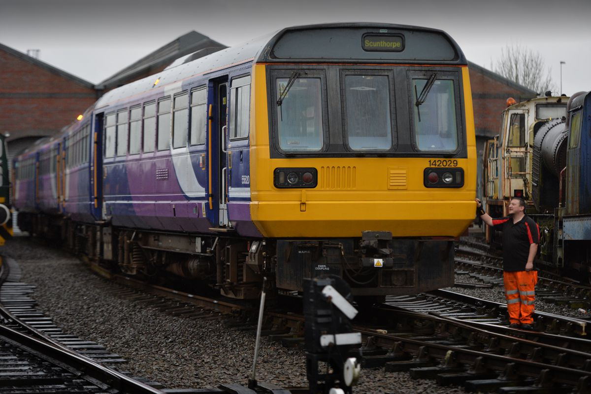Luke Tucker with the Class 142 Pacer