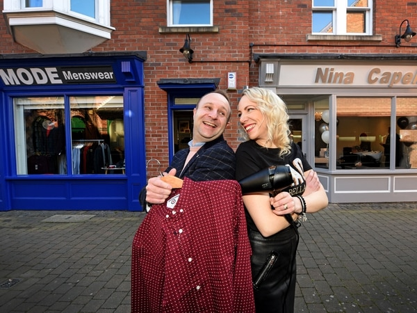 Husband and wife work next door to each other in Wolverhampton shops