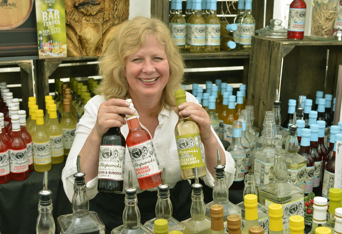 Linda Miller from Fitzpatricks Drinks in Lancashire at the Great British Food Festival